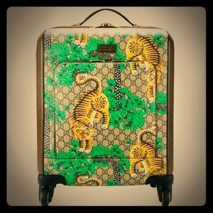 Gucci Bengal Carry On Suitcase Travel Bag